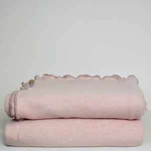 luxe plaid cotton-cashmere roze
